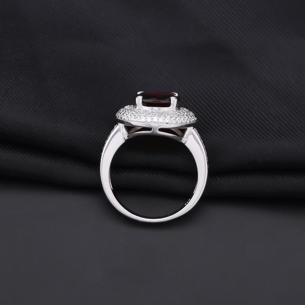 Image 3 - Gems Ballet 3.15Ct Natural Red Garnet Gemstone Ring 925 Sterling  Silver Engagement Cocktail Rings For Women Fine JewelryRings   -