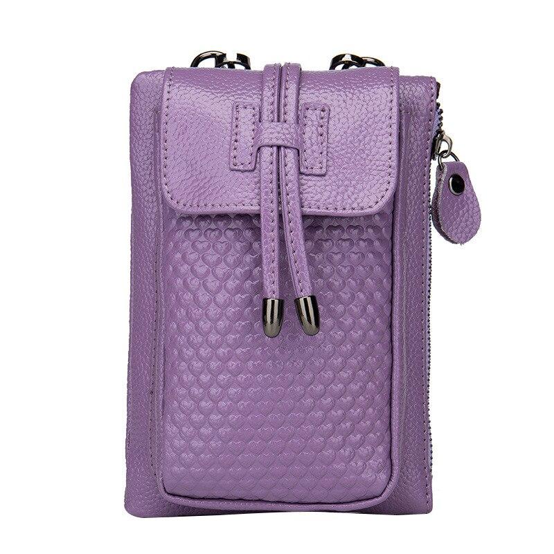 couro genuíno para mulheres sacolas Size : L13xw3xh19cm