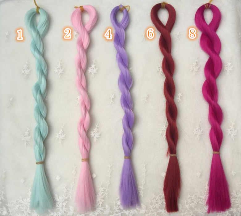 1 шт. 80 см 55 цветов трансплантации Тресс moppet волосы для куклы парик для BJD SD подходит для 1/6 1/3 1/4 кукла аксессуары