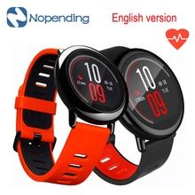 En la acción!! [Versión inglés] Original HUAMI AMAZFIT Smartwatch Bluetooth WiFi GPS Del Ritmo Cardíaco Del Deporte Del Reloj Inteligente Para Xiaomi Teléfono