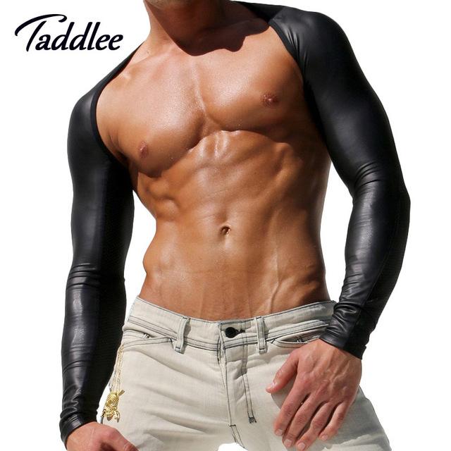 Marca sexy men mangas braços taddlee marca top roupas casaco de equitação proteção uv óculos de sol manga tornar sem forro vestuário superior