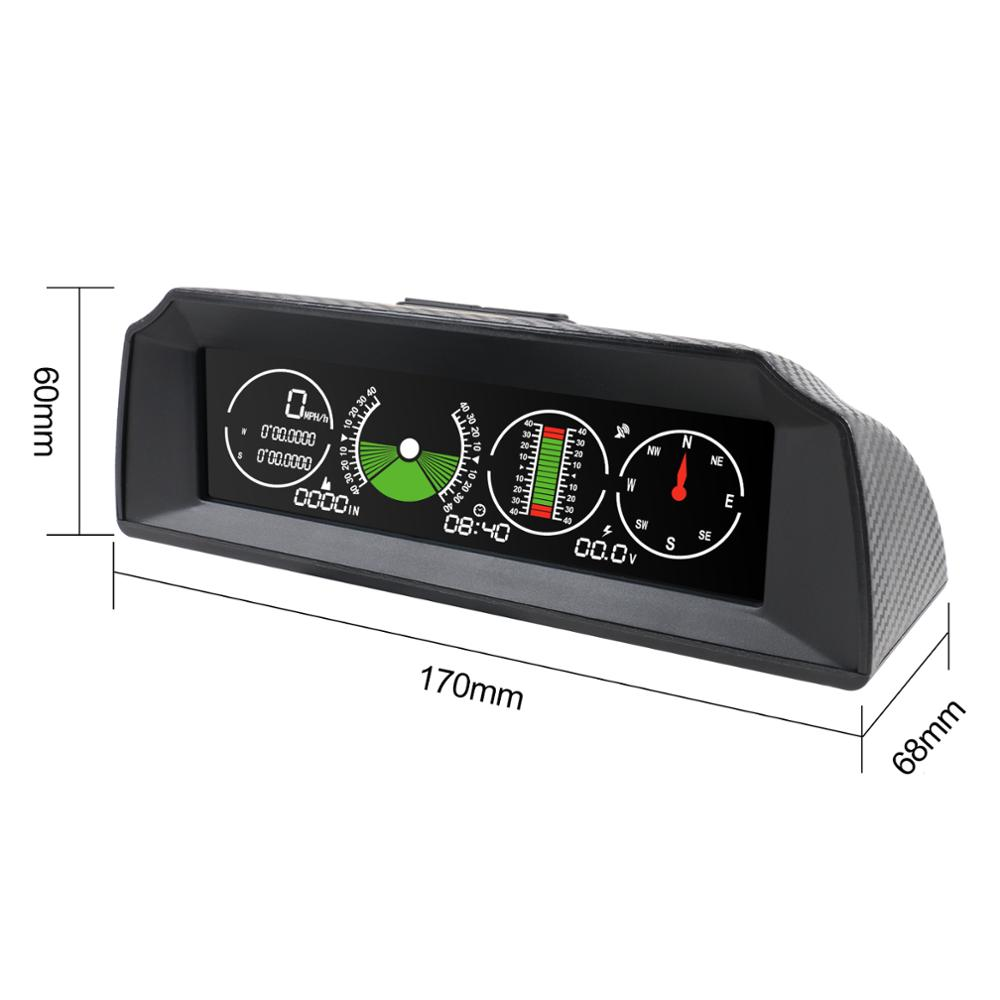 Image 3 - AUTOOL X90 GPS Speed Slope Meter Inclinometer Car HUD  Automotive Tilt Pitch Angle Protractor Latitude Longitude Smart Compass-in Head-up Display from Automobiles & Motorcycles