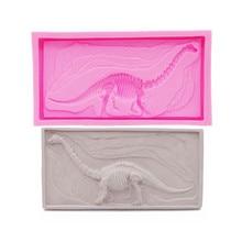 Dinosaur Fossil Skim Cake Silicone Mold Embossed Printed Dessert Decorative Technology Chocolate DIY Bakery Tools