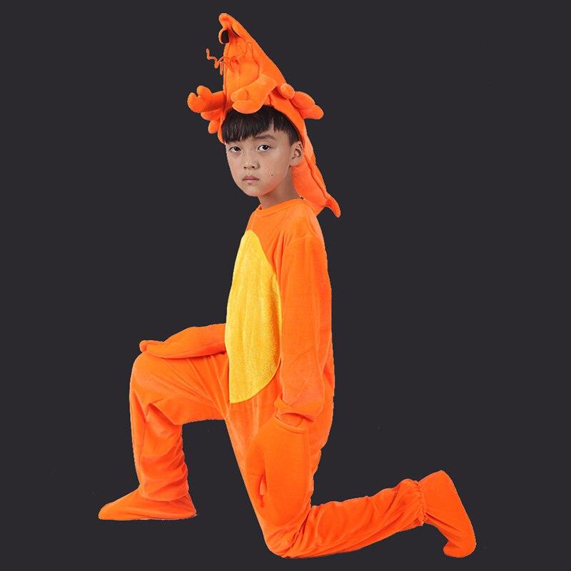 Svitania enfants Cosplay Orange homard enfants Costume ensemble enfants Halloween fête Costume combinaisons