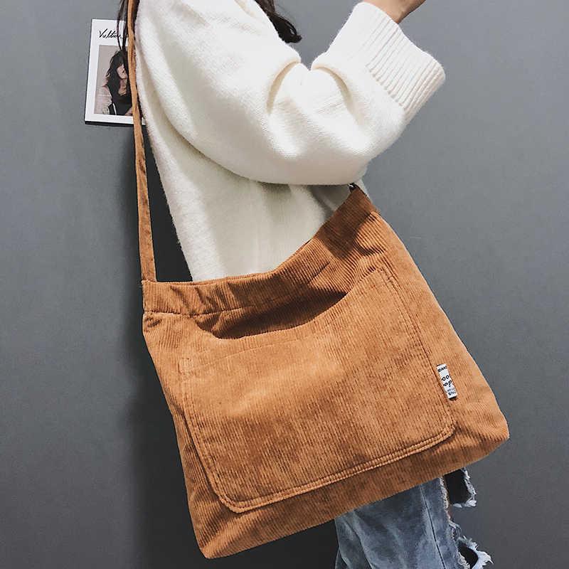 841aba01fe44 Detail Feedback Questions about Women Corduroy Shoulder Bags Female ...