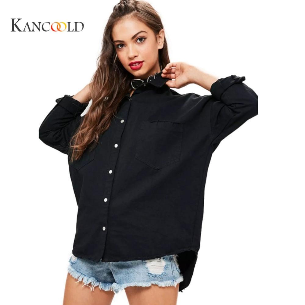 KANCOOLD 2017 fashion Jacket Herbst Fruhling Frauen Gute Qualitat Lose Stil Jeans jacke Harajuku alphabet druck Jacket Sep28