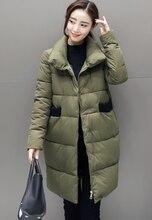 2017 winter women parka cotton jackets wadded outerwear jacket female fashion slim medium-long cotton-padded coat