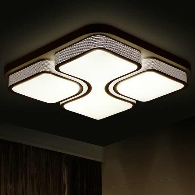 Modern ceiling lights for home lighting led ceiling lamp square luminaire light fixtures acrylic lampshade lustre