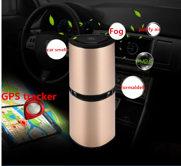 premium car air purifier Formaldehyde Removing freash air Ionizer and with GPS tracker and USB out put for mobilephone usb powered apple shaped air purifier and ionizer green