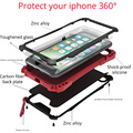 Para iphone 7 vida à prova d' água à prova de choque case capa protetora para iphone 7 plus shell silicone case de alumínio com vidro gorila