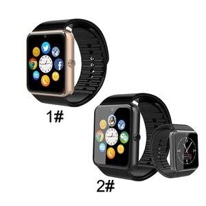 Image 2 - Bluetooth GT08 montre intelligente écran tactile grande batterie horloge Support TF carte Sim caméra Smartwatch pour IOS iPhone Android téléphone