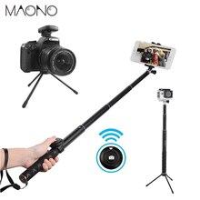 MAONO Selfie Vara Do Bluetooth Controle Remoto e Rain-Proof Portátil Tripé Monopé para GoPro iPhone 7/7 Plus/6 Plus /6 s Plus Samsung DSLR