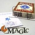 Envío libre!! memoria De Alambre De Metal Fuego Predicción 7 de Corazones/trucos de magia de la calle de cerca tarjeta profesional productos/