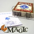 Free shipping!!   Memory Metal Wire Fire Prediction 7 of Hearts / close-up street professional card magic tricks products /
