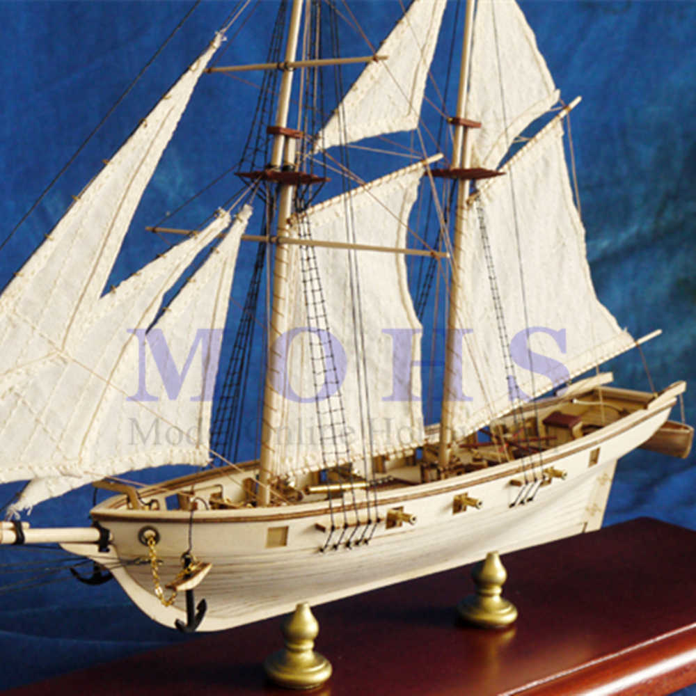 assembly model kits retro/brass sailing Halcon COMBO classical wooden sailing boat scale wooden assembly ship building kits
