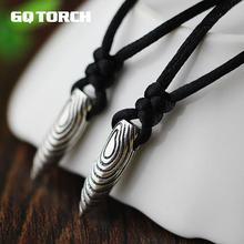 Цельный 925 пробы Серебряный волк воины 2 пуля кулон ожерелье для мужчин Wu Jing Военная армейская пуля с гравировкой