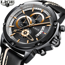 2018 New Men Watch Top Brand Luxury Waterproof Chronograph Date Quartz Watch Men's Gold Watches Sport Watch Relogio Masculino new reef tiger designer sport watches men chronograph date calfskin nylon strap super luminous quartz watch relogio masculino