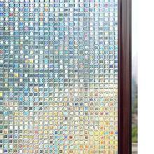 Rabbitgoo 3D Window Films Colorful Privacy Film Static Decorative Non-Adhesive Heat Control Anti UV Bedroom Home Decoration