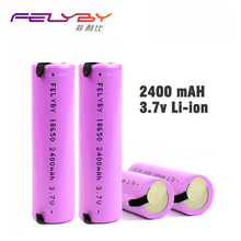 Free Shipping ! HOT! FELYBY High Quality 3.7V 2400mAh Original 1-5pcs 18650 Li-ion Rechargeable Battery