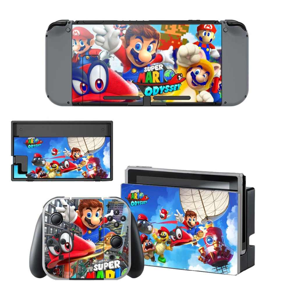 Super Mario Odyssey Decal Vinyl Skin Protector Sticker For Nintendo Switch Ns Console Controller Stand Holder Protective Film