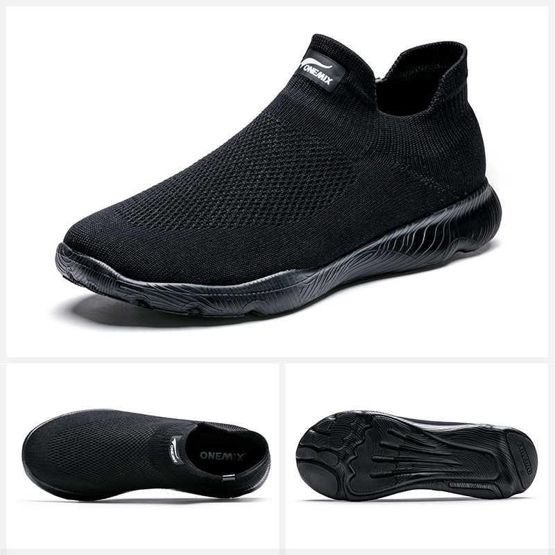 Onemix ใหม่มาถึงผู้ชายกีฬารองเท้ารองเท้า Breathable Running รองเท้าสำหรับผู้ชาย SUPER LIGHT รองเท้าจัดส่งฟรี