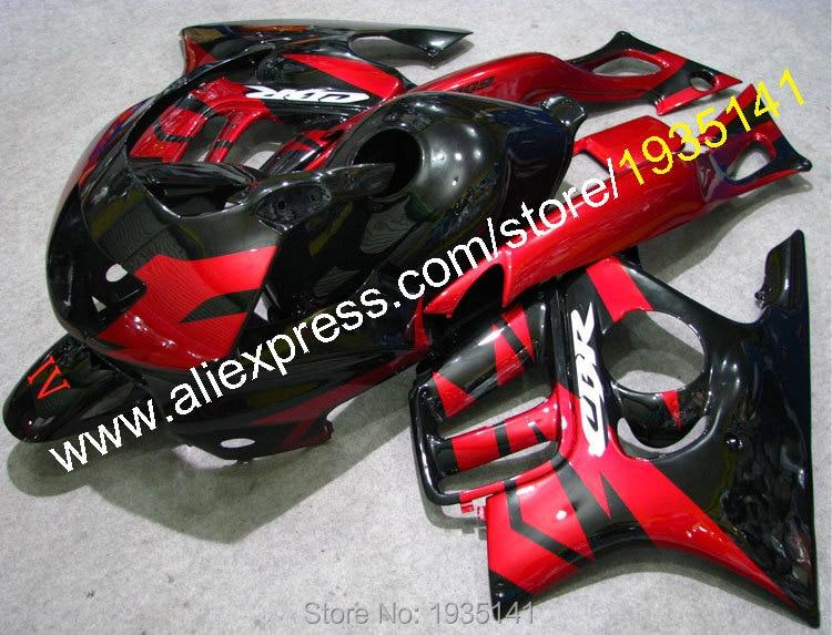Горячие продаж,для Honda 1997 1998 CBR600 F3 в части ЦБР 600 Ф3 97/98 CBRF3 Красное/Черное послепродажного мотоциклов Обтекателя (литье под давлением)