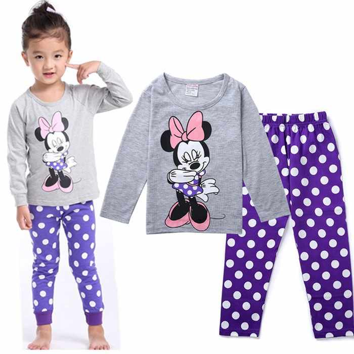2018 детские осенние пижамы комплект одежды для мальчиков и девочек мультфильм  пижамы Детский комплект с длинными 2b62e4c67ee2c