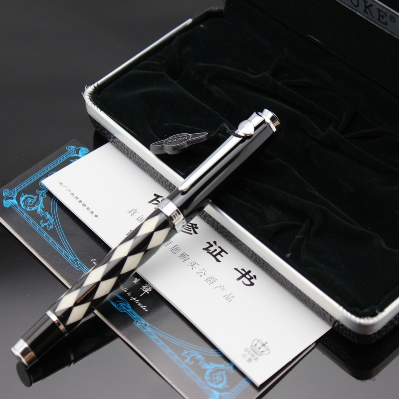 Duke Priest Series Fashion Kawaii Writing Stationery 0.5mm Fountain Pen with Original Gift Case Luxury Metal Ink Pens for Gifts