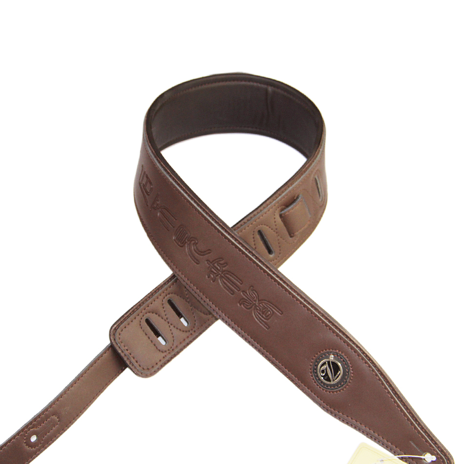 Free shipping Guitar straps bass straps  guitar belt , guitar suspender interlining with thick brown high-quality leather electric guitar pu leather belt straps acoustic guitar bass strap stamping imitation snakeskin stone texture straps