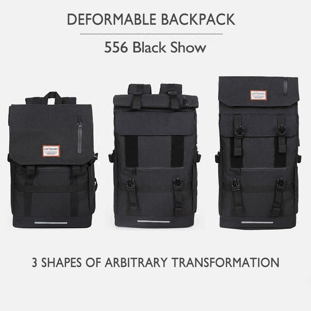 OZUKO New 40L Large Capacity Travel Backpacks Men USB Charge Laptop Backpack For Teenagers Multifunction Travel Male School Bag 3