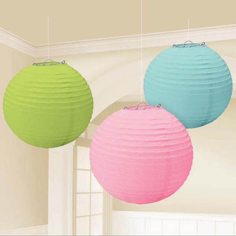12 color Paper Lantern 20CM Chinese Design