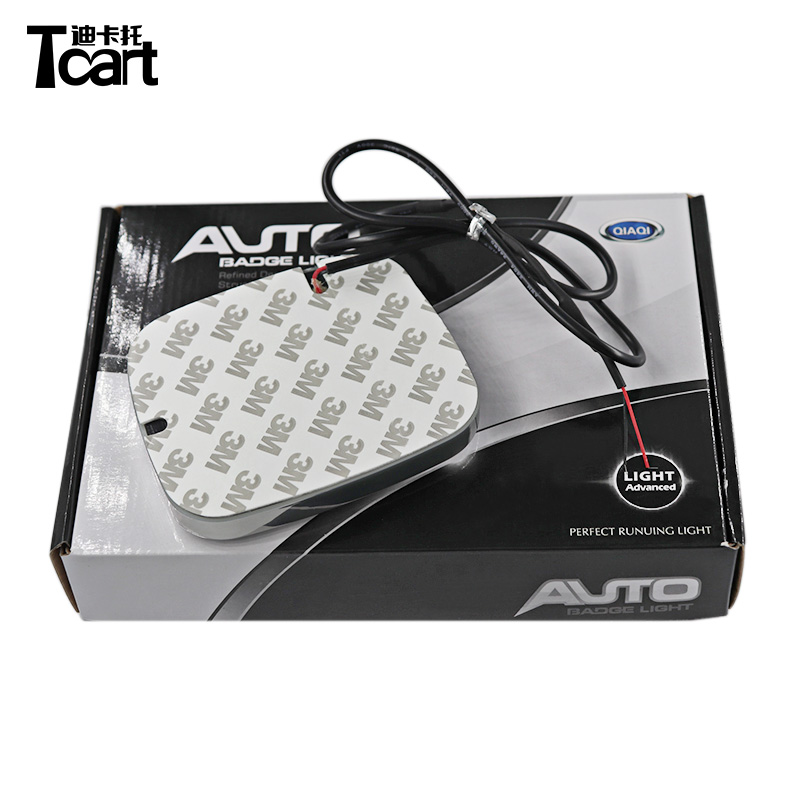 Tcart For Honda led Rear Badge Sticker light 4D Car Emblem light lamp LED light 4D logo light Emblems led image