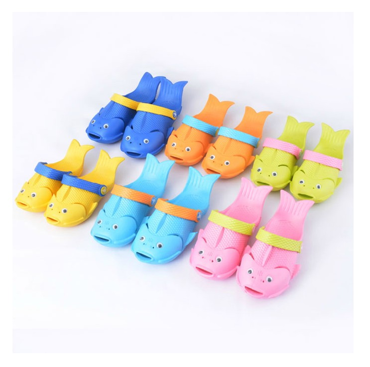 Dollarfish child sandals slip-resistant cartoon baby slippers summer male female personalized fish-shaped - Glory Lamb liu's store