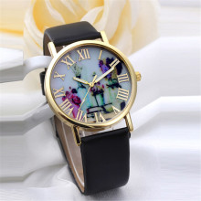 Relogio Femino new Women Fashion Vases Dial Leather Band Quartz Analog Wrist Watches