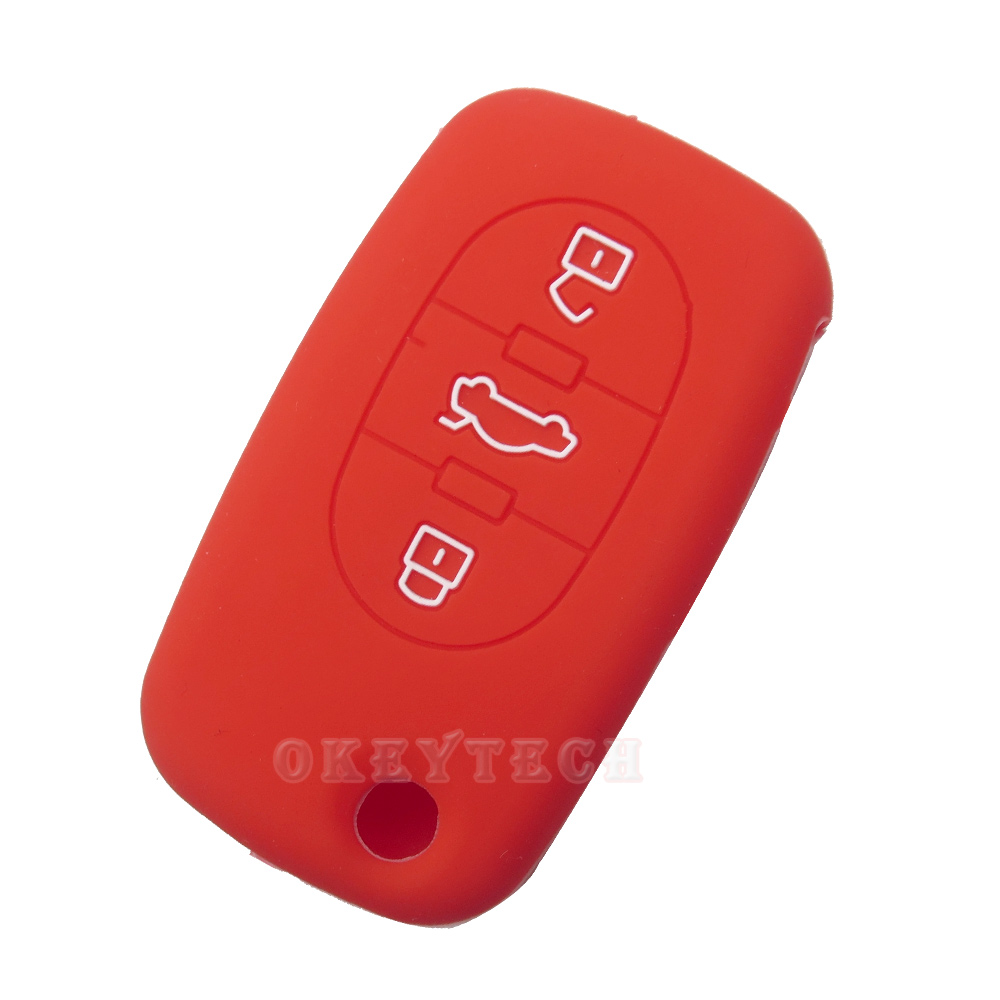 OkeyTech New skin silicone rubber car key fob cover case set