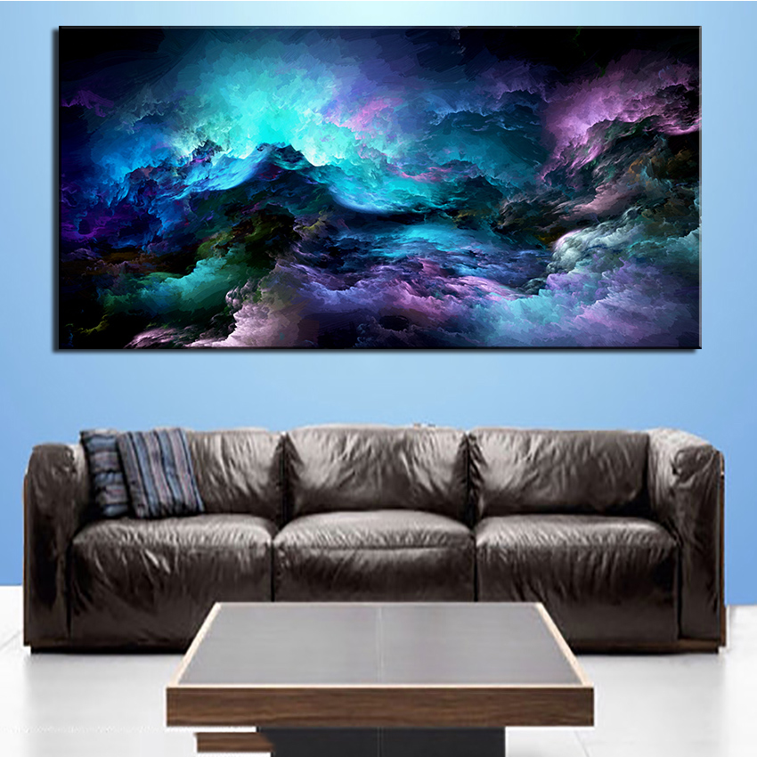 large sizes wall art prints fine art prints abstract oil painting wall decor blue painting for. Black Bedroom Furniture Sets. Home Design Ideas