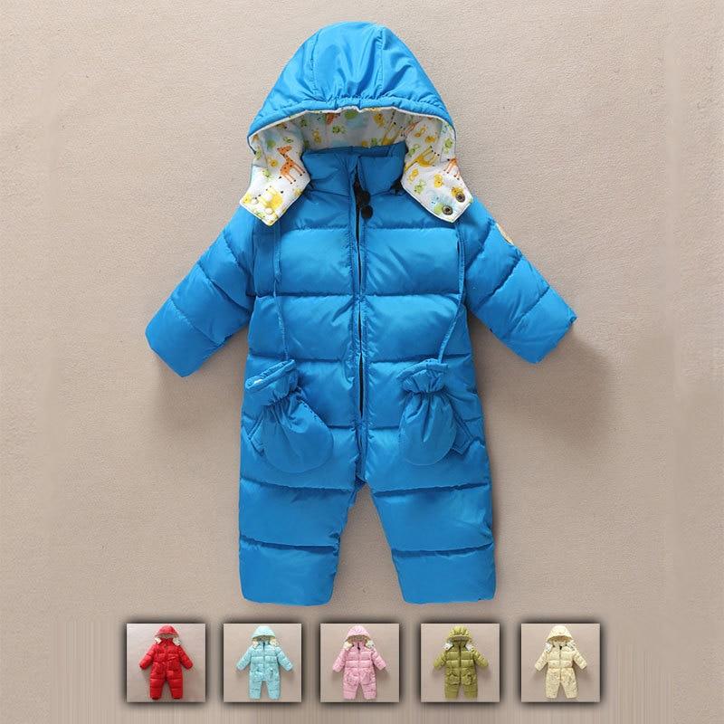 Winter Newborn Baby Down Rompers Baby Girl Down Jacket Girl Down Coats Baby Girl Down Snow Wear 6M 9M 12M 18M 24M 36M цены онлайн