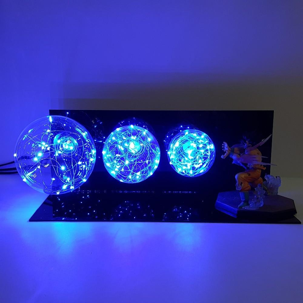 цена на Dragon Ball Son Goku Kamehameha Lamp Display Toy Figuras Dragon Ball Lampara Goku Figuarts Dragon Ball Z Action Figure
