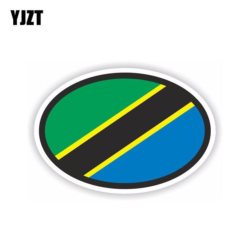 YJZT 14 см * 9,3 см автомобильные аксессуары танзанийский шлем с флагом Автомобильная Наклейка на окно автомобиля наклейка 6-1709