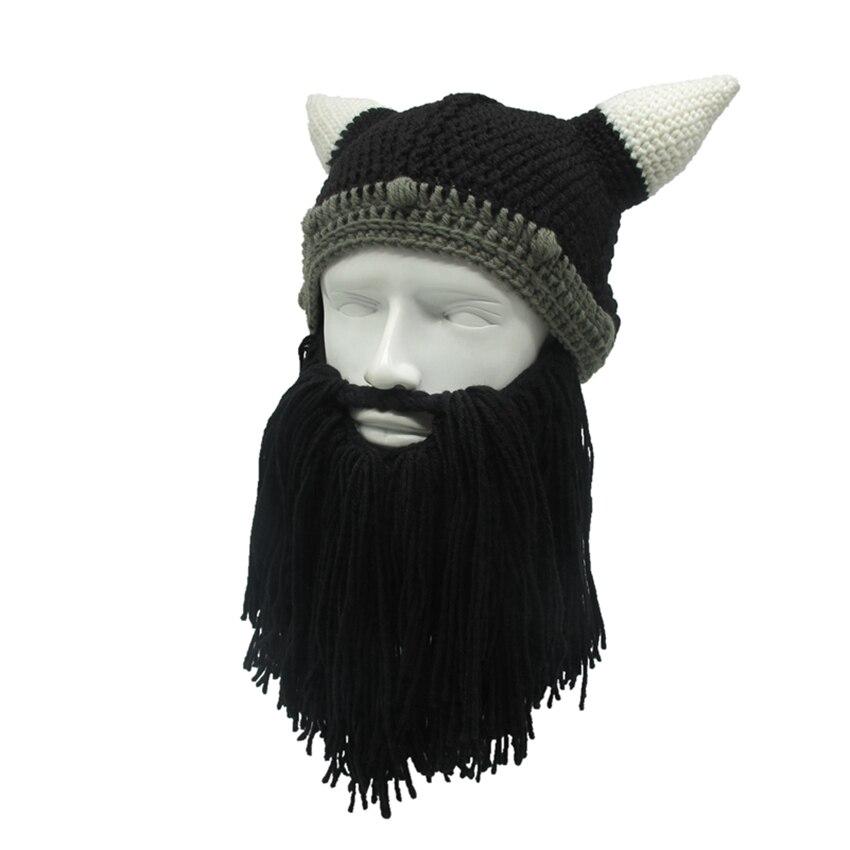 Hombres y Mujeres Invierno Caliente Cap bárbaro Viking barba Beanie ...