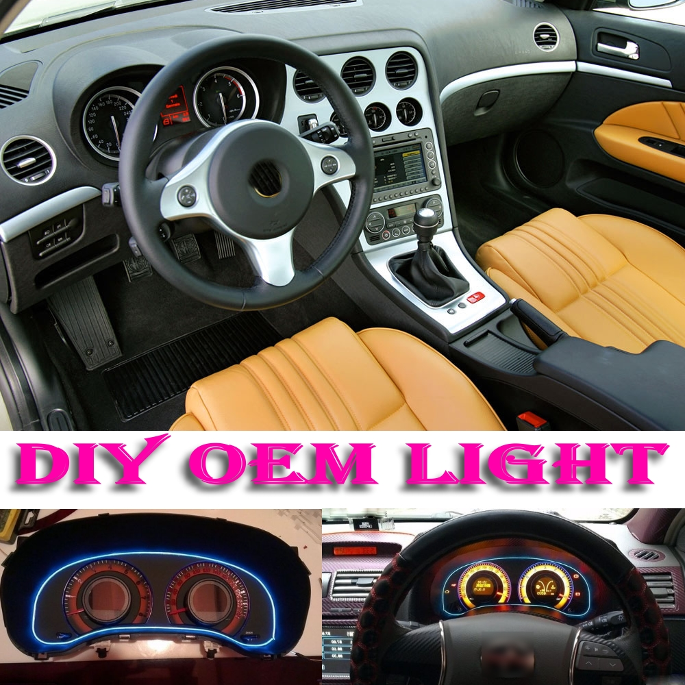 car atmosphere light flexible neon light el wire interior light decorative decals tags inside. Black Bedroom Furniture Sets. Home Design Ideas
