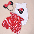 Baby Rompers   Cotton Cartoon Sleeveless Jumpsuit Kids 0-2Years Rompers And Bloomers Baby Girl Brand Clothing Sets