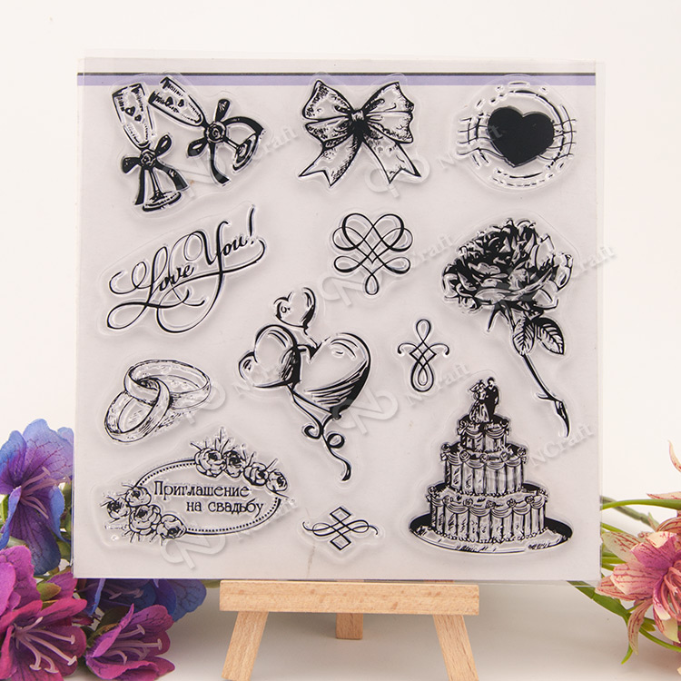 Christmas Transparent Clear Silicone Stamp/Seal for DIY scrapbooking/photo album Decorative clear stamp 196 flowers and lace design transparent clear silicone stamp seal for diy scrapbooking photo album wedding gift cl 083