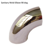 OD45 / OD 42 Sanitary  Elbow 90 degree  Stainless Steel 304 Sanitary  Welded Elbow For Pipe Fitting Homebrew