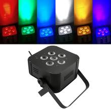 6x15 W RGBWA 5 in 1 Batterij Par Licht/DMX Bruiloft KTV Bar DJ Disco Led(China)