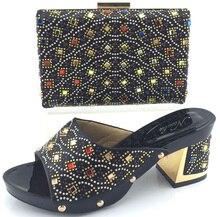 Hochzeit Schuh Und Tasche Set Frauen Pumpt Schuhe High Heels African schuh Und Tasche Mit Steinen Schuh Und Passende Tasche ME3319