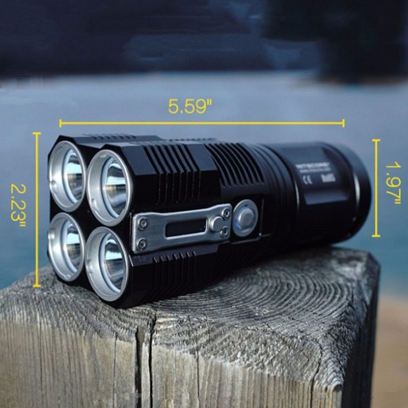NITECORE TM28 Rechargeable flashlight 4 *CREE XHP35 HI LED max.6000LM beam distance 655 meters outdoor torch high lumen light