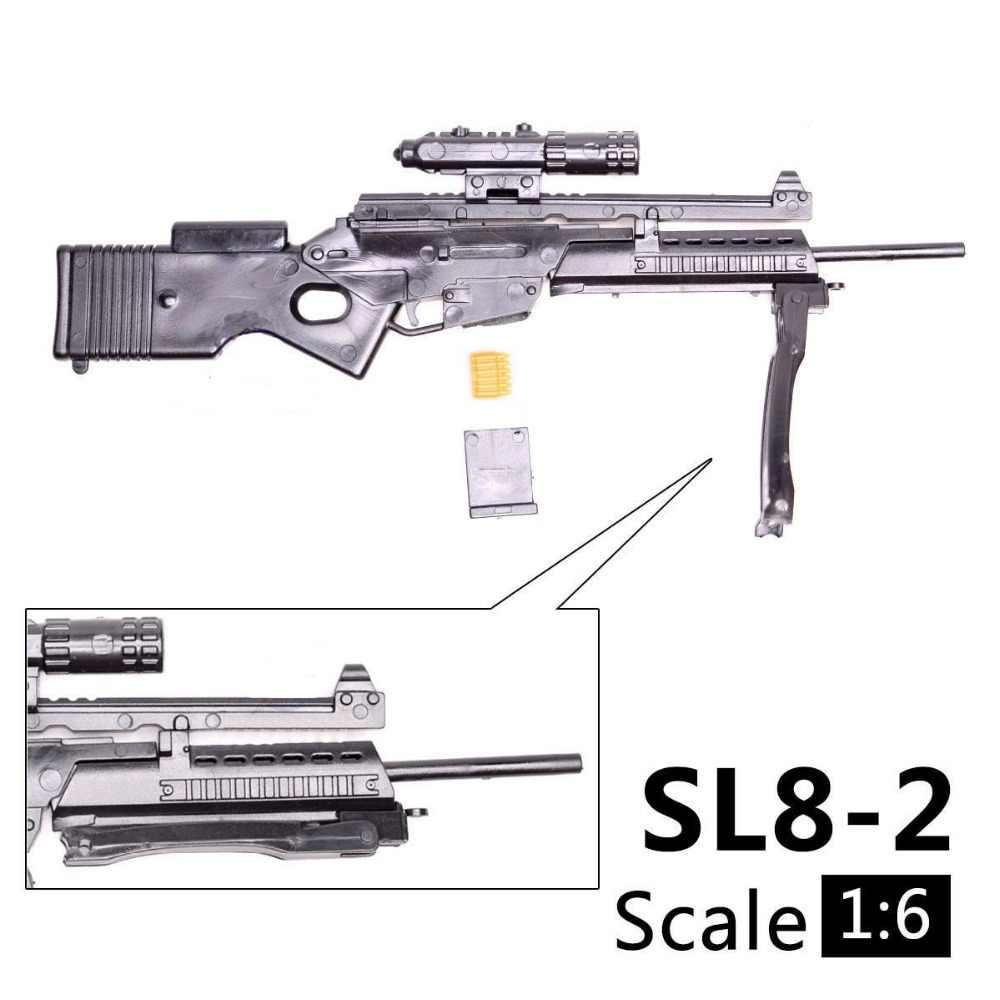 """Atirador Arma Modelo de Arma Acessório para 1/6 Escala 1:6 SL8-2 12 """"Figuras de Ação"""