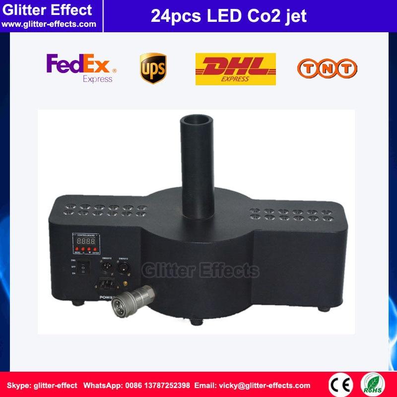 DJ Disco night club bar 24pcs LED beads Digital LED Co2 jet Stage performance equipment Special Effect fog machine pneumatic jet chisel jex 24