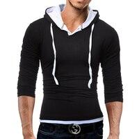 Male 2017 Brand Long Sleeve Soild Color Cotton T Shirt O Neck Slim Men T Shirt